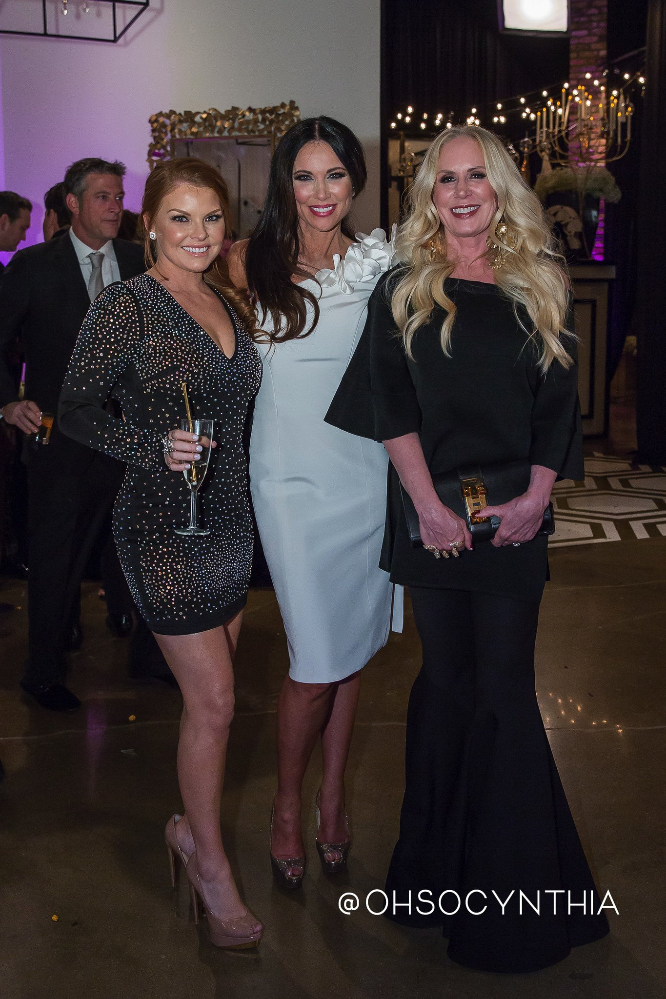 """Brandi Redmond, LeeAnne Locken, and Heidi Dillonat the Prashe showroom for an event thatwas filmed for season 2 of """"The Real Housewives of Dallas"""" on February 1, 2017 