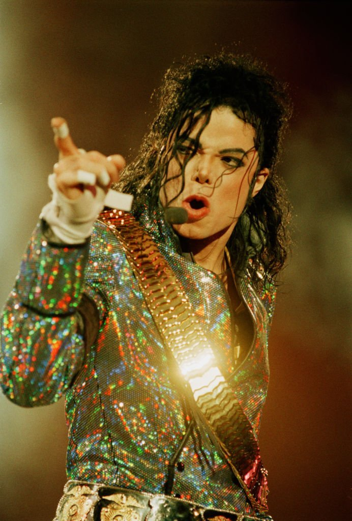 Michael Jackson performing at Wembley Stadium, London, on July 30, 1992 | Photo: Getty Images