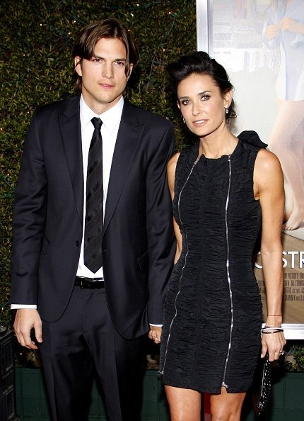 """Ashton Kutcher and Demi Moore at the Los Angeles Premiere of """"No Strings Attached on January 11, 2011 
