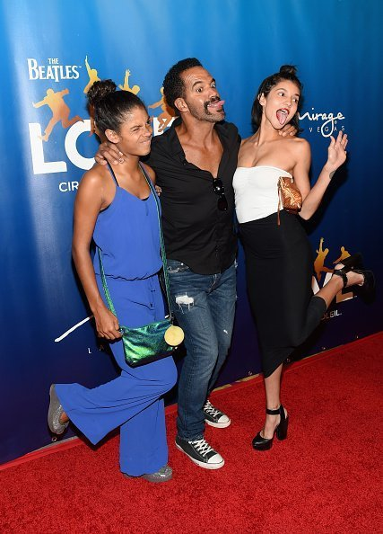 Lola St. John, Kristoff St. John and Paris St. John attend the 10th anniversary of 'The Beatles LOVE by Cirque du Soleil' at The Mirage Hotel & Casino on July 14, 2016, in Las Vegas, Nevada.| Photo: Getty Images