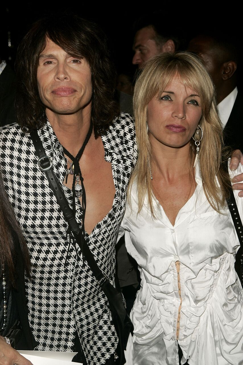 Steven Tyler and wife Teresa Barrick attend the Marc Jacobs show during the Olympus Fashion Week Spring 2005. | Source: Getty Images