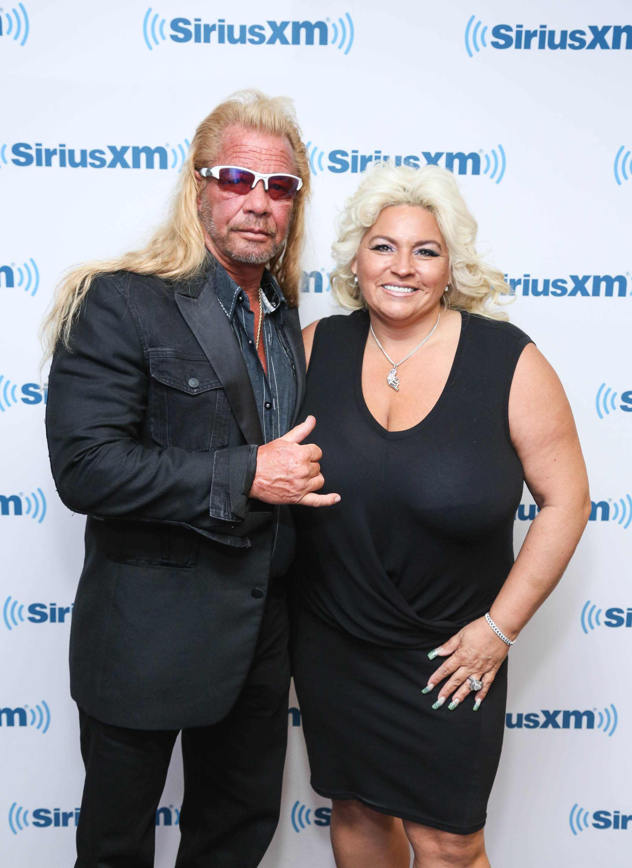 Dog the Bounty Hunter, Duane Chapman and wife Beth Chapman visit at SiriusXM Studios on June 9, 2014 in New York City.   Source: Getty Images