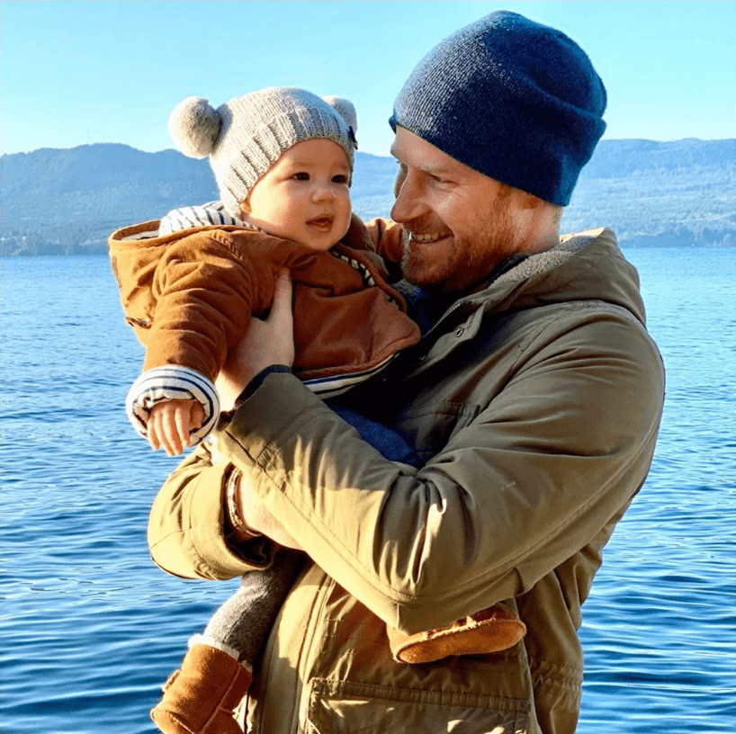Prince Harry and his son Archie pictured over the Thanksgiving holiday in 2019.   Photo: Instagram/sussexroyal