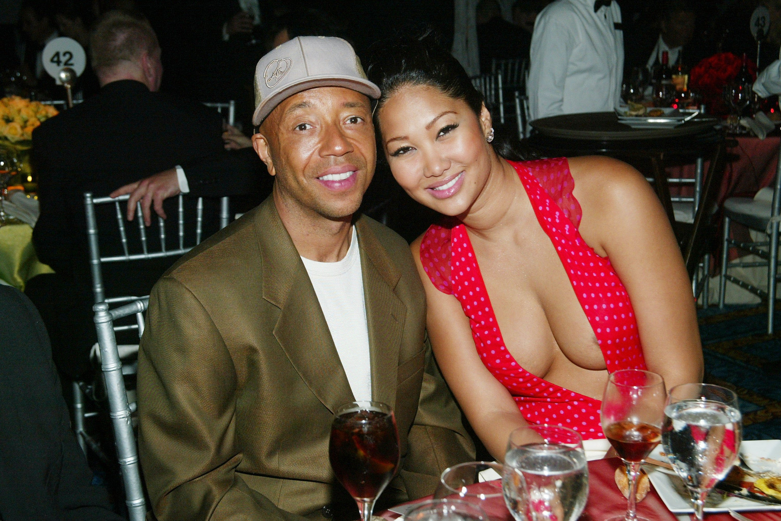 Kimora Lee Simmons at the Tony Awards Dinner with ex husband, Russel Simmons on June 8, 2003. | Photo: Getty Images.