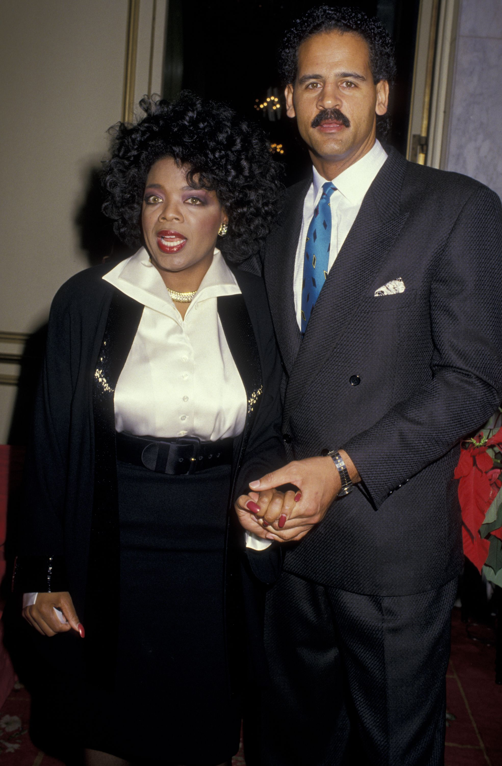 Oprah Winfrey and Steadman Graham attend 47th Annual Golden Apple Awards on December 13, 1987 at the Beverly Wilshire Hotel. | Source: Getty Images
