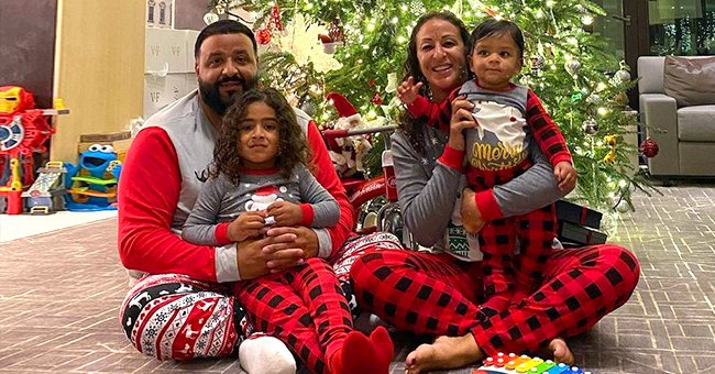 DJ Khaled Sends Holiday Well Wishes Posing with His Cute Sons and Wife in Cool Matching Pajamas