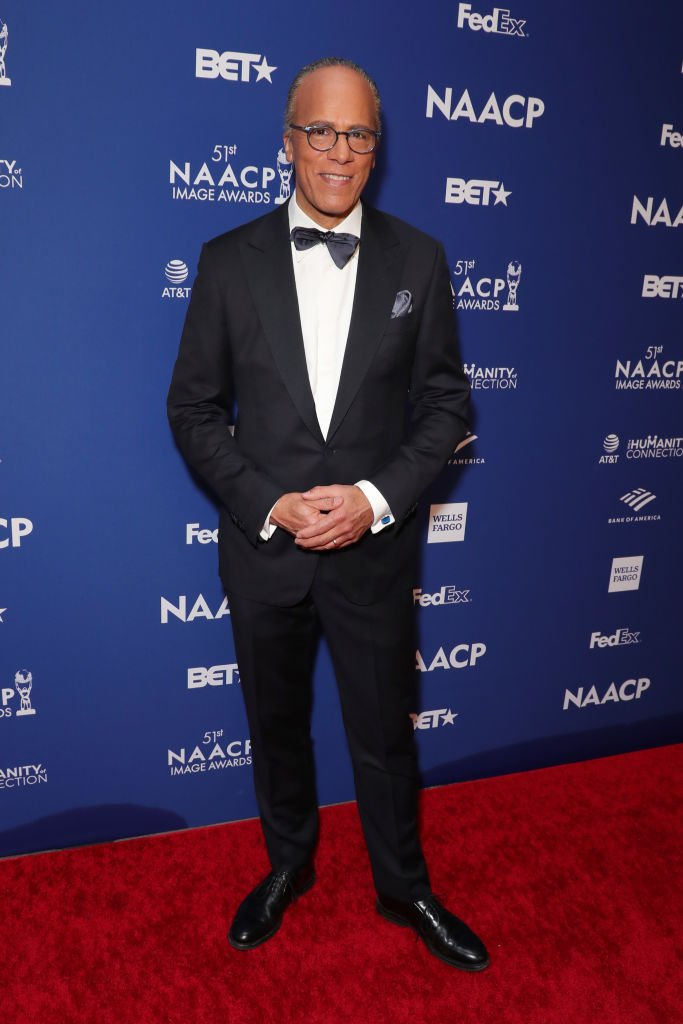 Lester Holt attends 51st NAACP Image Awards on February 21, 2020 in Hollywood, California. | Photo: Getty Images