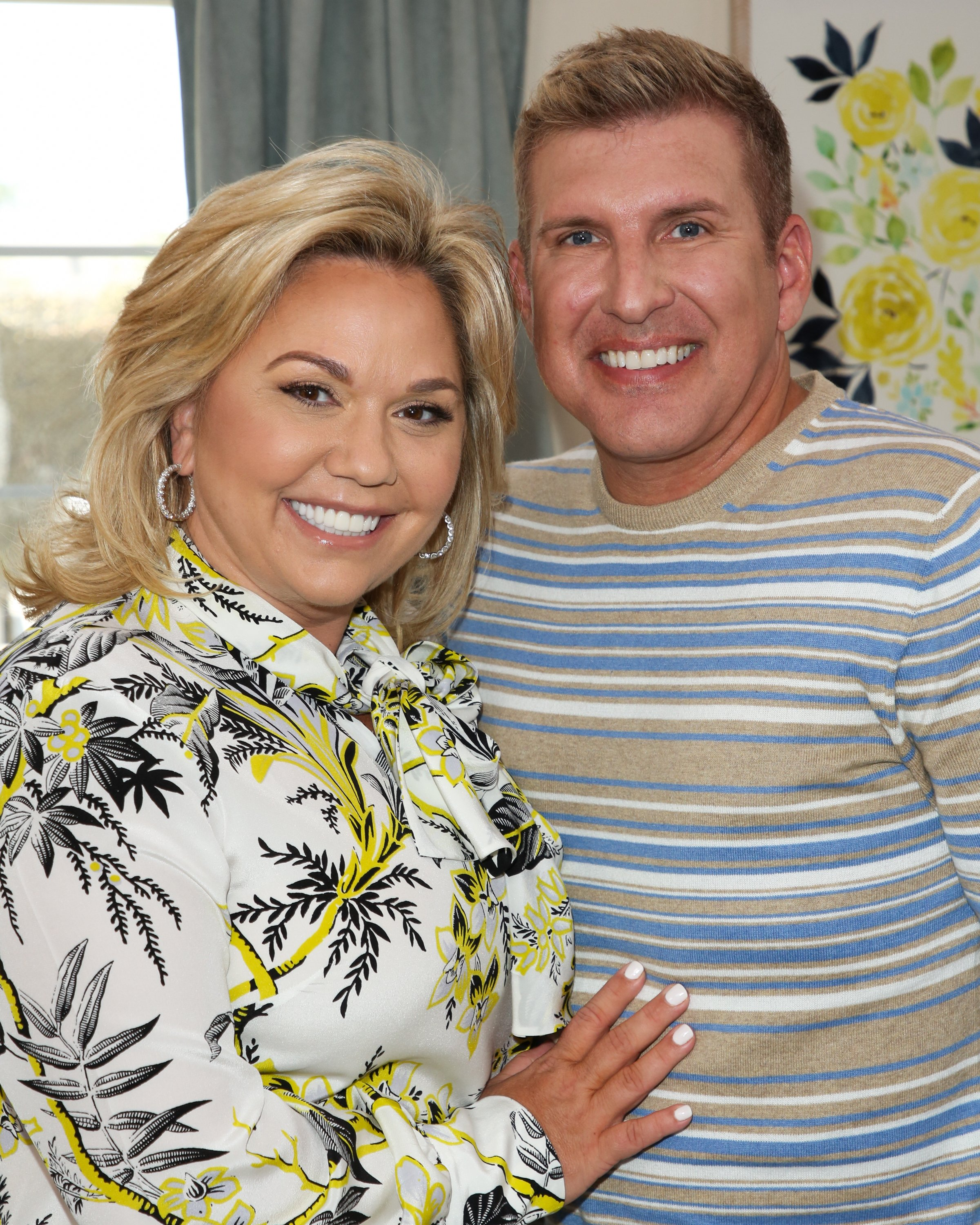 "Julie Chrisley and Todd Chrisley visit Hallmark's ""Home & Family"" on June 18, 2018, in Universal City, California. 