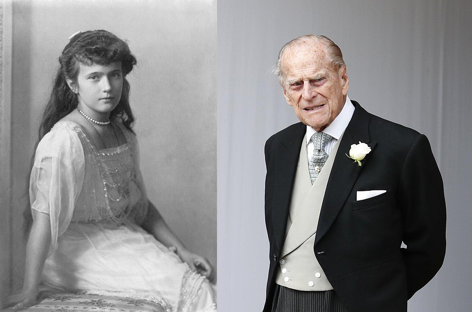 Anastasia Romanov and Prince Philip. I Image: Wikimedia Commons/ Getty Images.