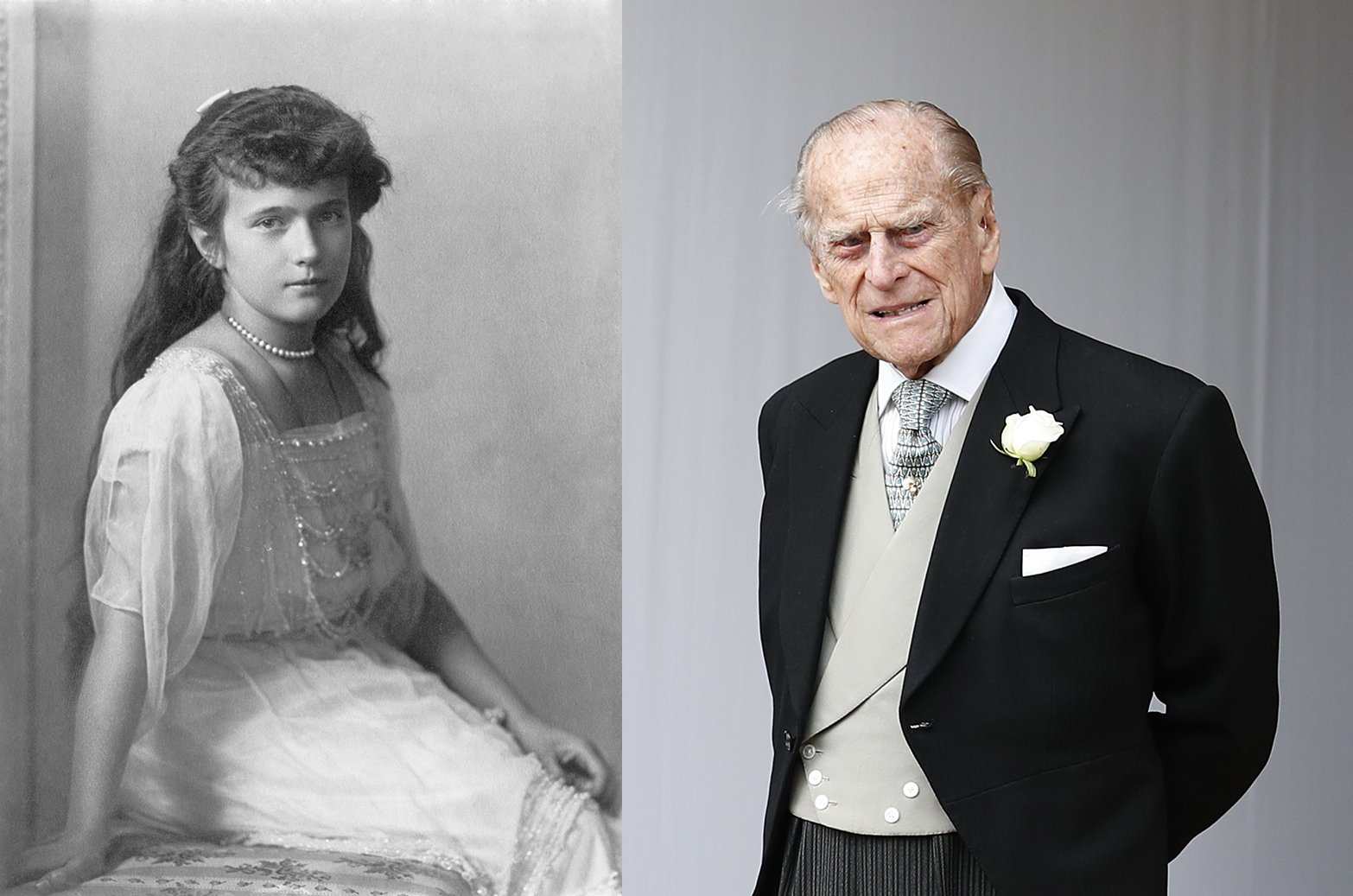 Anastasia Romanov and Prince Philip. I Image: Wikimedia Commons/ Getty Images.