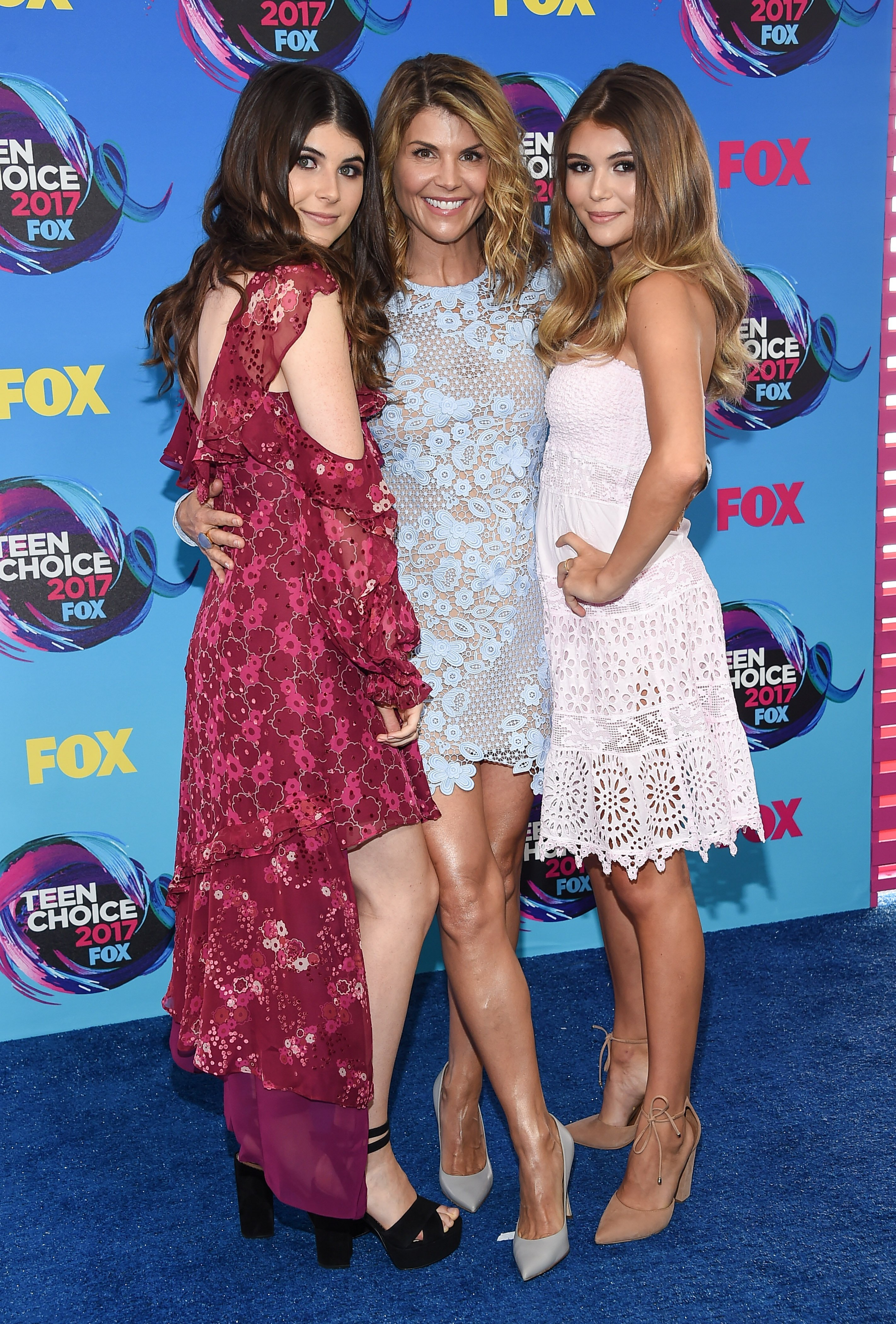 Lori Loughlin, Isabella Rose Giannulli, Olivia Jade Giannulli arrives for the Teen Choice Awards 2017 on August 13, 2017, in Los Angeles, CA. | Source: Shutterstock.