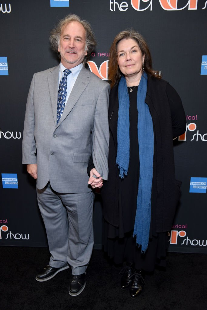 """Mark Linn-Baker (L) and Christa Justus arrive at """"The Cher Show"""" Broadway Opening Night at Neil Simon Theatre on December 03, 2018 
