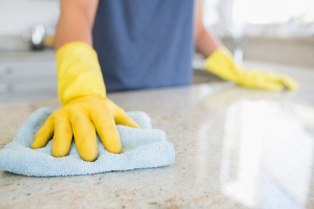 Limpia los mostradores de tu cocina-Imagen tomada de Shutterstock
