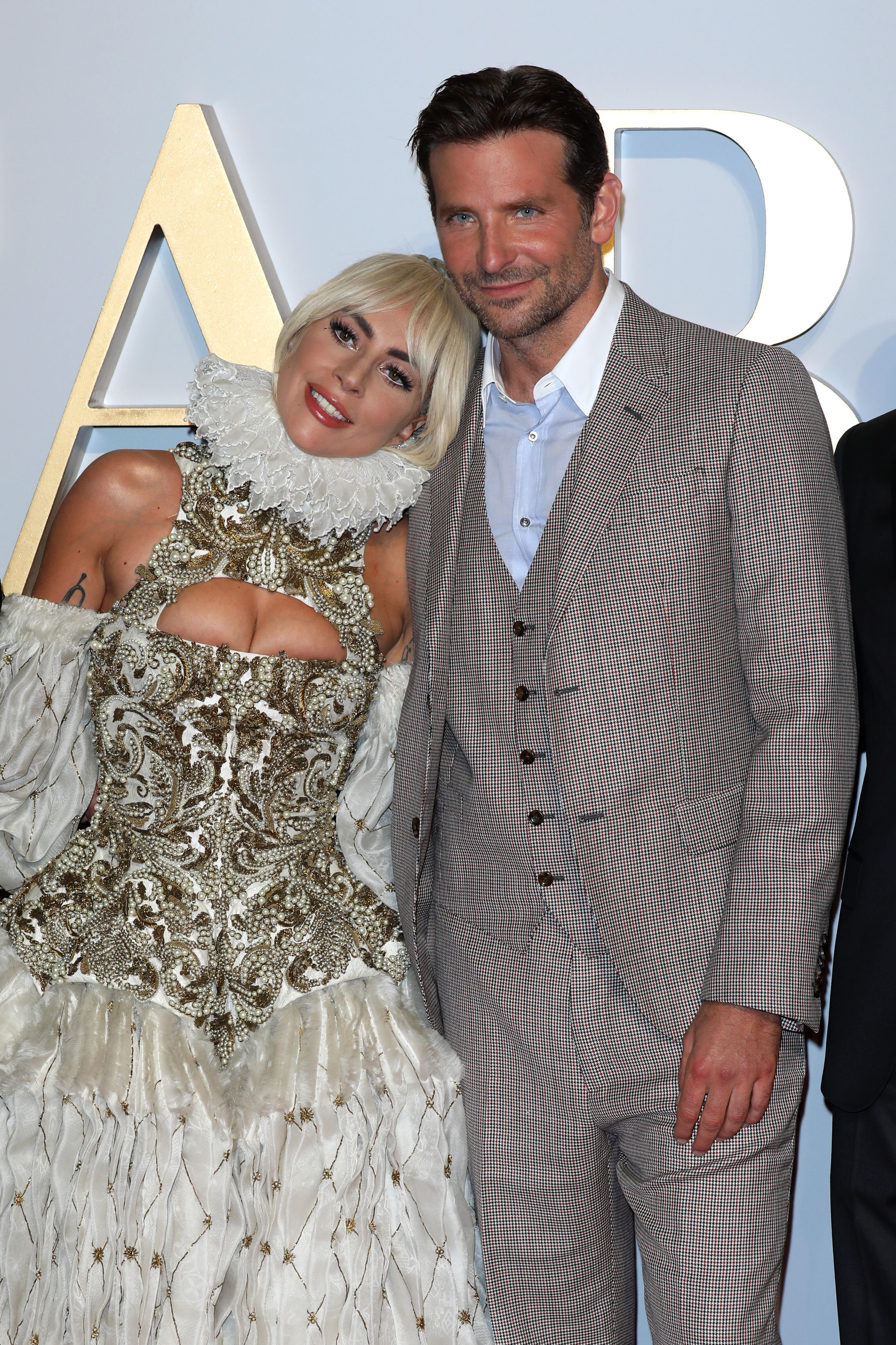 Lady Gaga and Bradley Cooper attend the UK premiere of 'A Star Is Born' held at Vue West End on September 27, 2018 in London, England | Photo: Getty Images