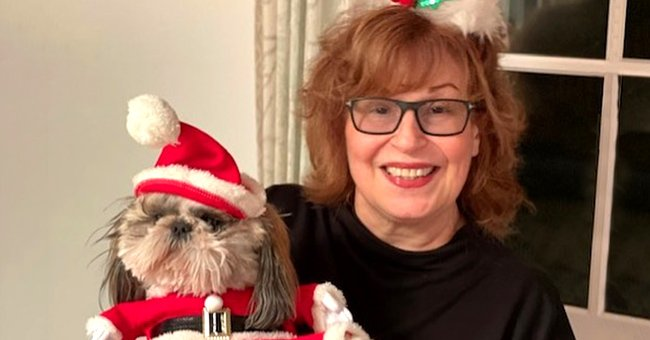 'The View' Co-host Joy Behar Smiles with Her Pooch Named after Bernie Sanders in a Festive Pic