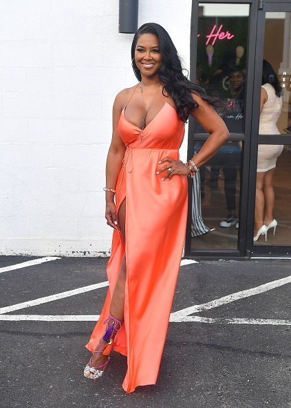 Kenya Moore at Marlo Hampton's HER Hair Collection Soft Launch at on July 17, 2019 | Photo: Getty Images