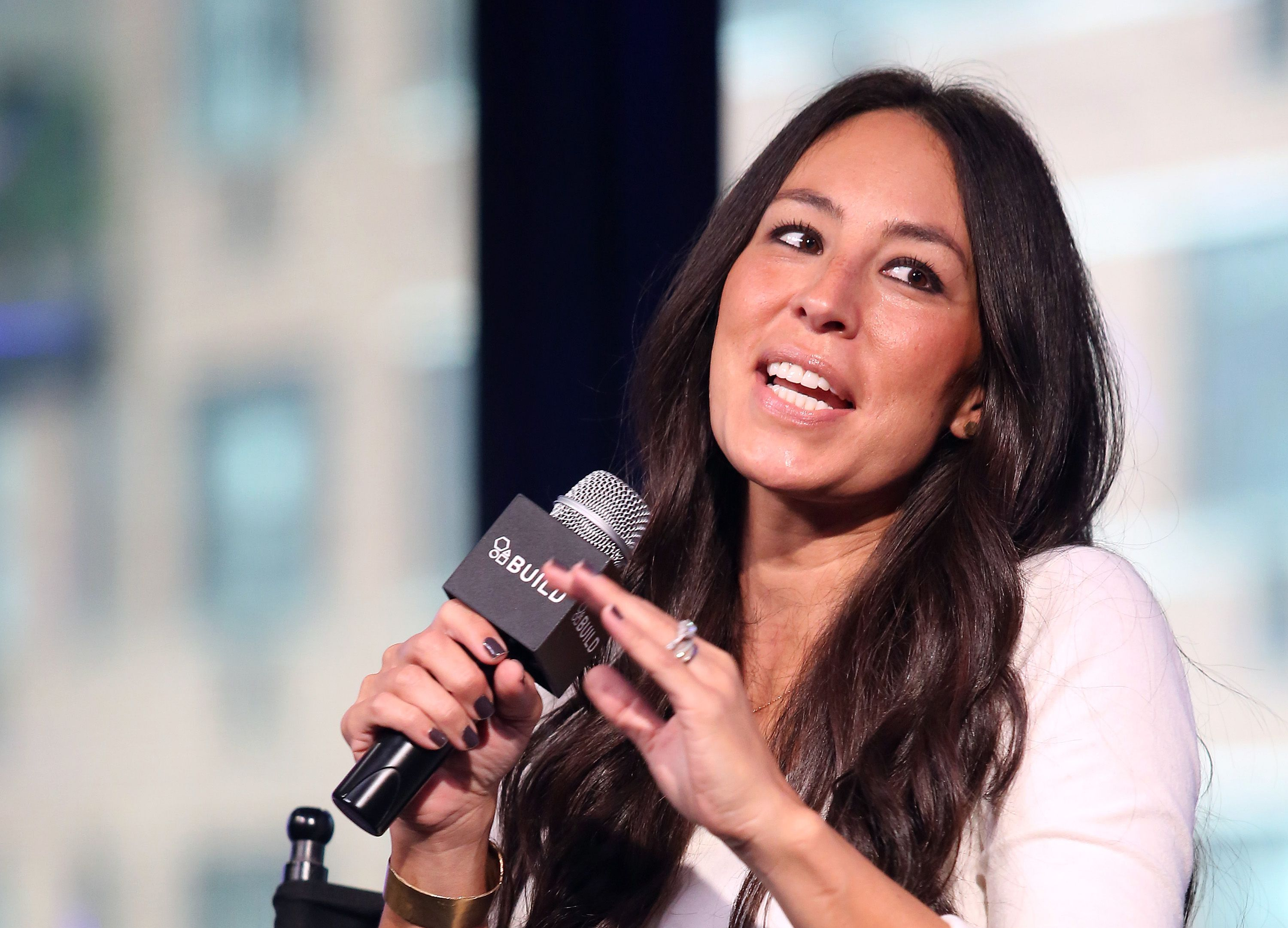 """Joanna Gaines promotes """"The Magnolia Story"""" during the AOL BUILD Series at AOL HQ on October 19, 2016, in New York City 