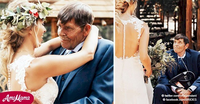 Emotional moment bride gets to dance with her dying father on her wedding day