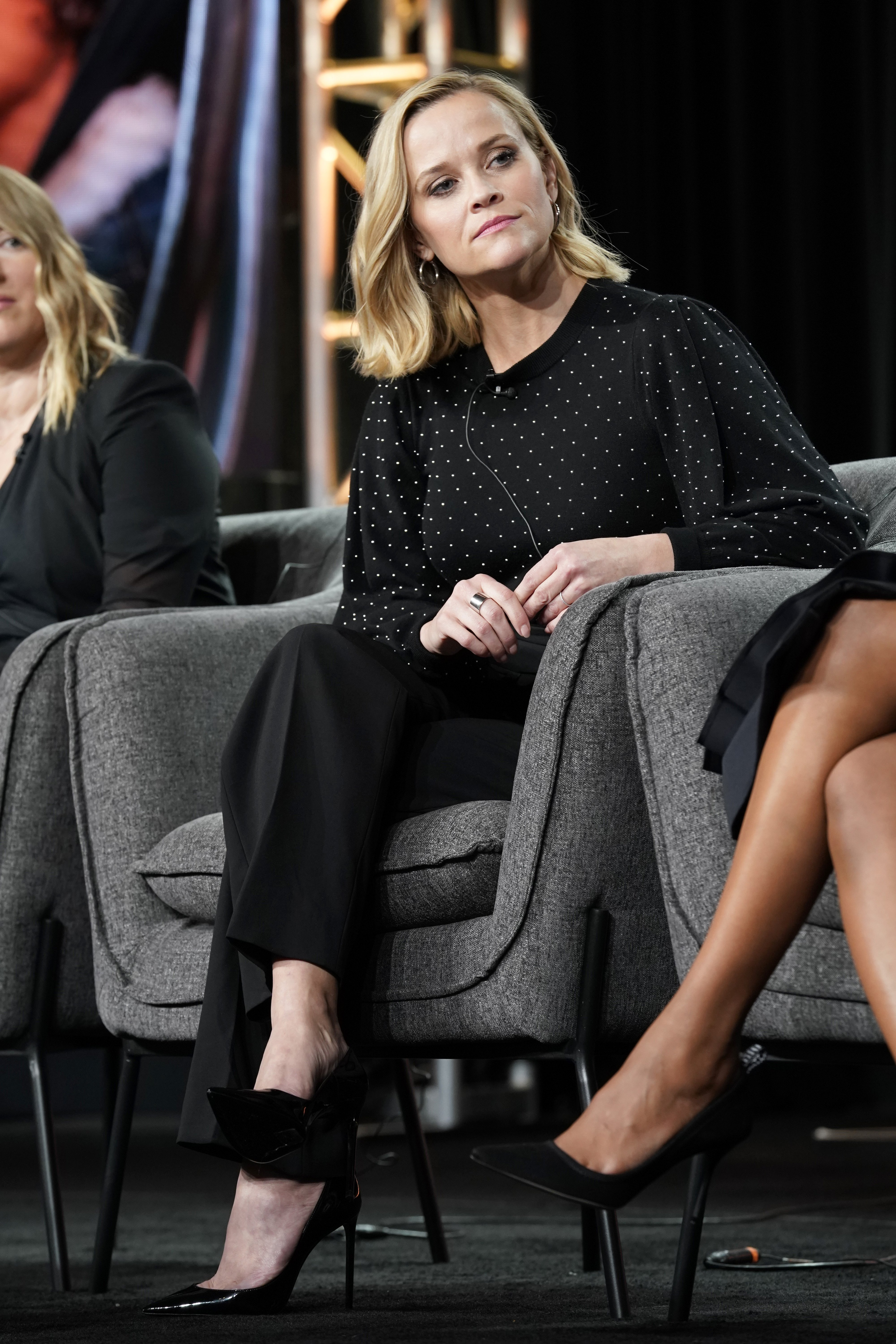 Reese Witherspoon speaks onstage during the Hulu Panel at Winter TCA 2020 at The Langham Huntington, Pasadena on January 17, 2020 in Pasadena, California. | Source: Getty Images