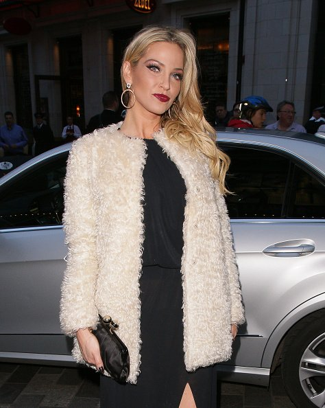 """English Singer Sarah Harding at """"Jersey Boys"""" on April 12, 2016 in London, England 