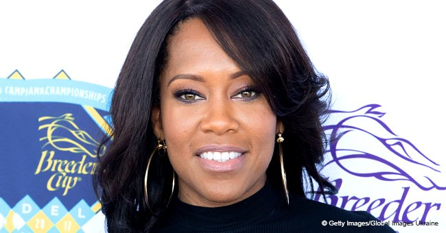 Regina King was nearly crushed while sitting courtside at NBA game