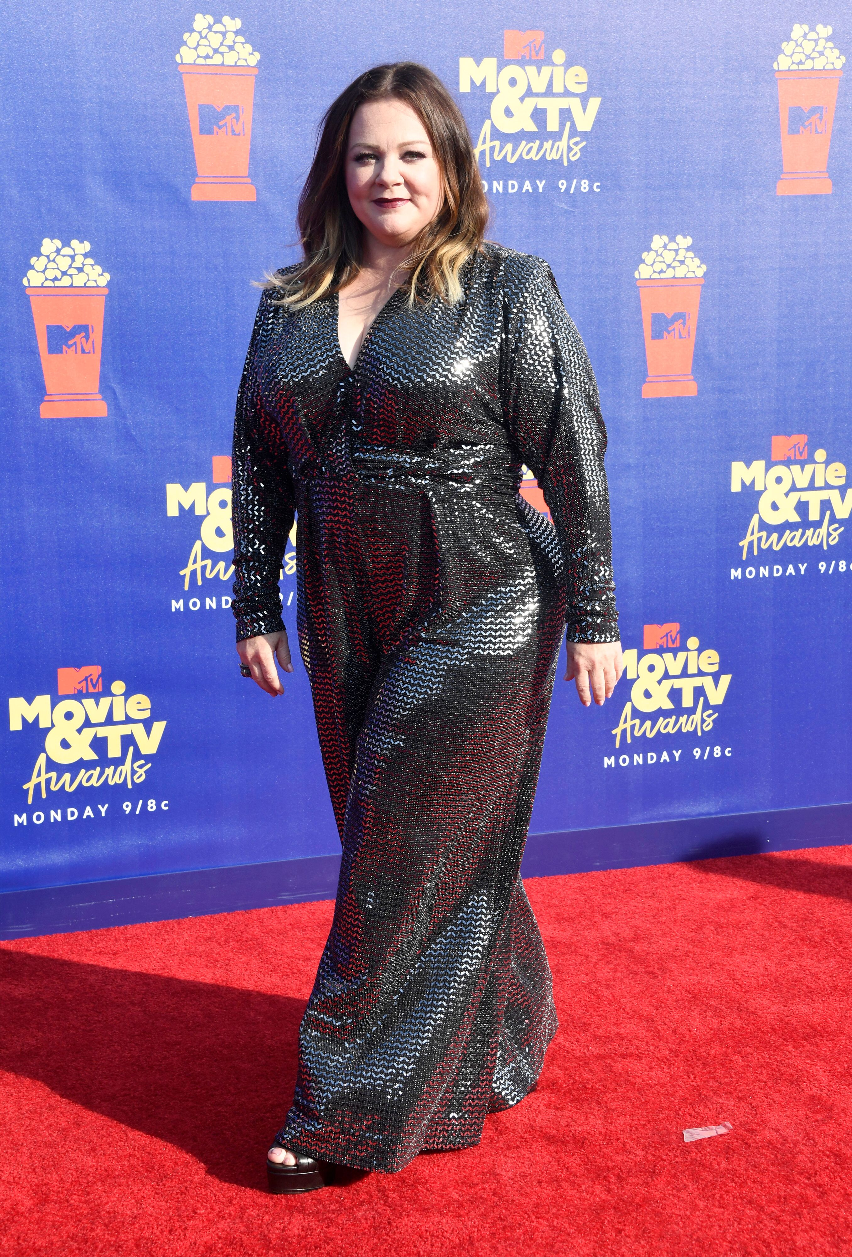 Melissa McCarthy attends the 2019 MTV Movie and TV Awards. | Source: Getty Images