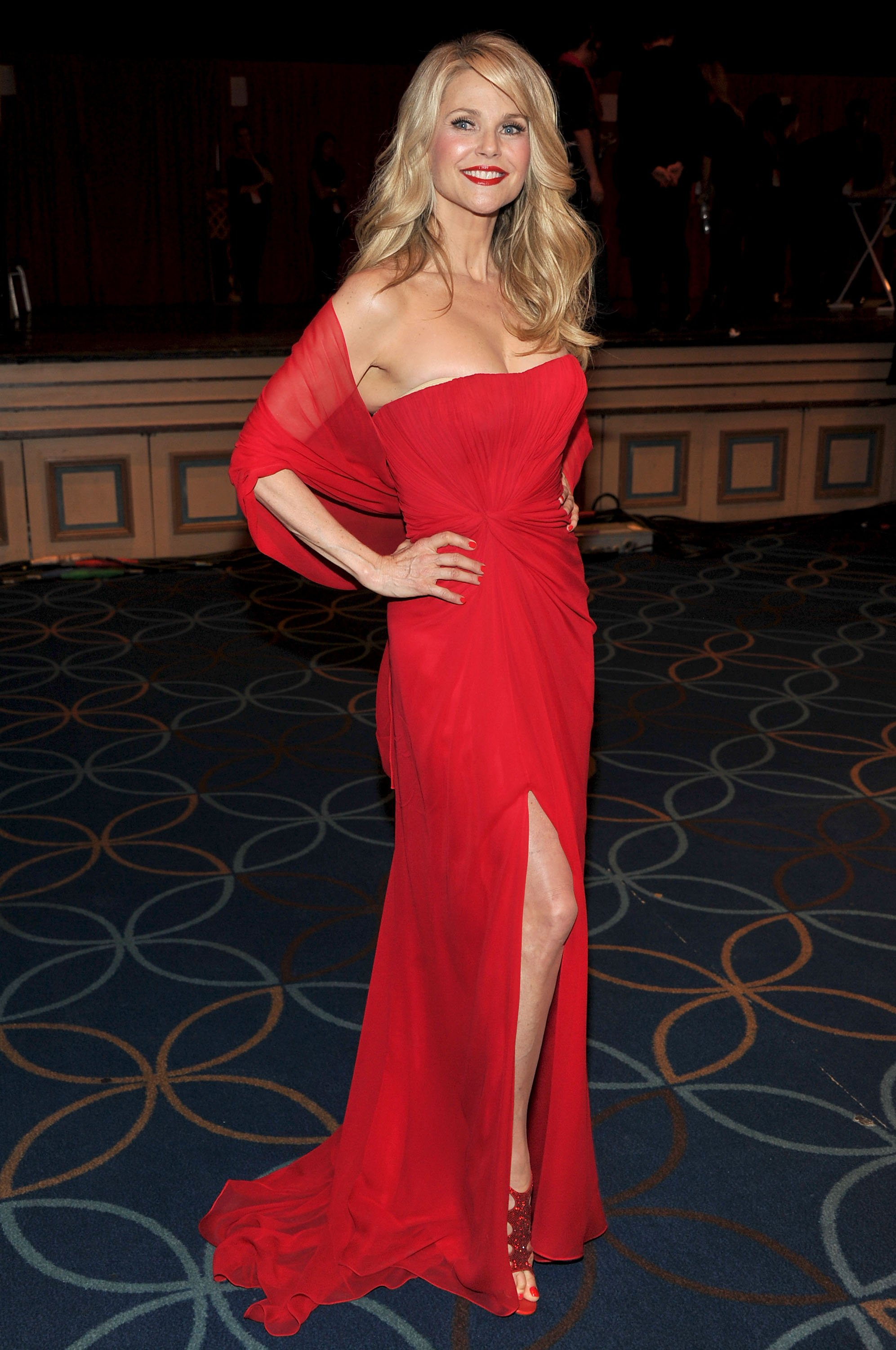 Christie Brinkley attending The Heart Truth's Red Dress Collection Fashion Show. Source   Photo: Getty Images