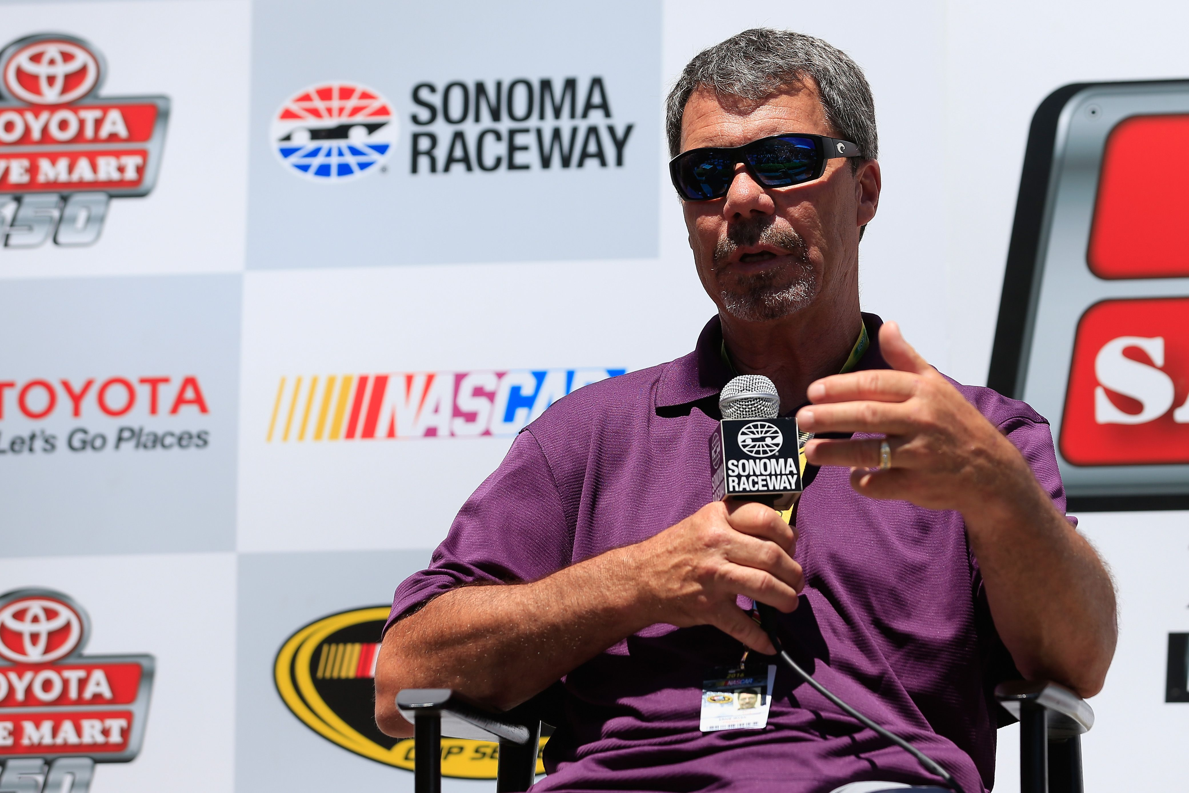 Ernie Irvan at the Sonoma Raceway Wall Of Fame after practice for the NASCAR Sprint Cup Series Toyota/Save Mart 350 at Sonoma Raceway on June 24, 2016 | Photo: Getty Images