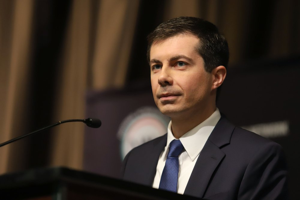 Democratic presidential candidate Pete Buttigieg speaks during the National Action Network Convention on April 4, 2019 | Source: Shutterstock