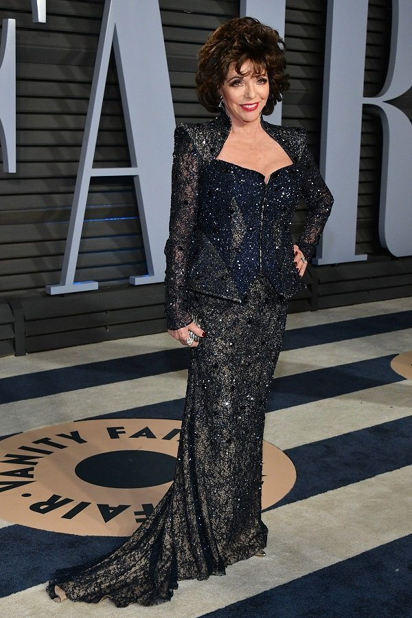 Joan Collins on March 4, 2018 in Beverly Hills, California | Photo: Getty Images