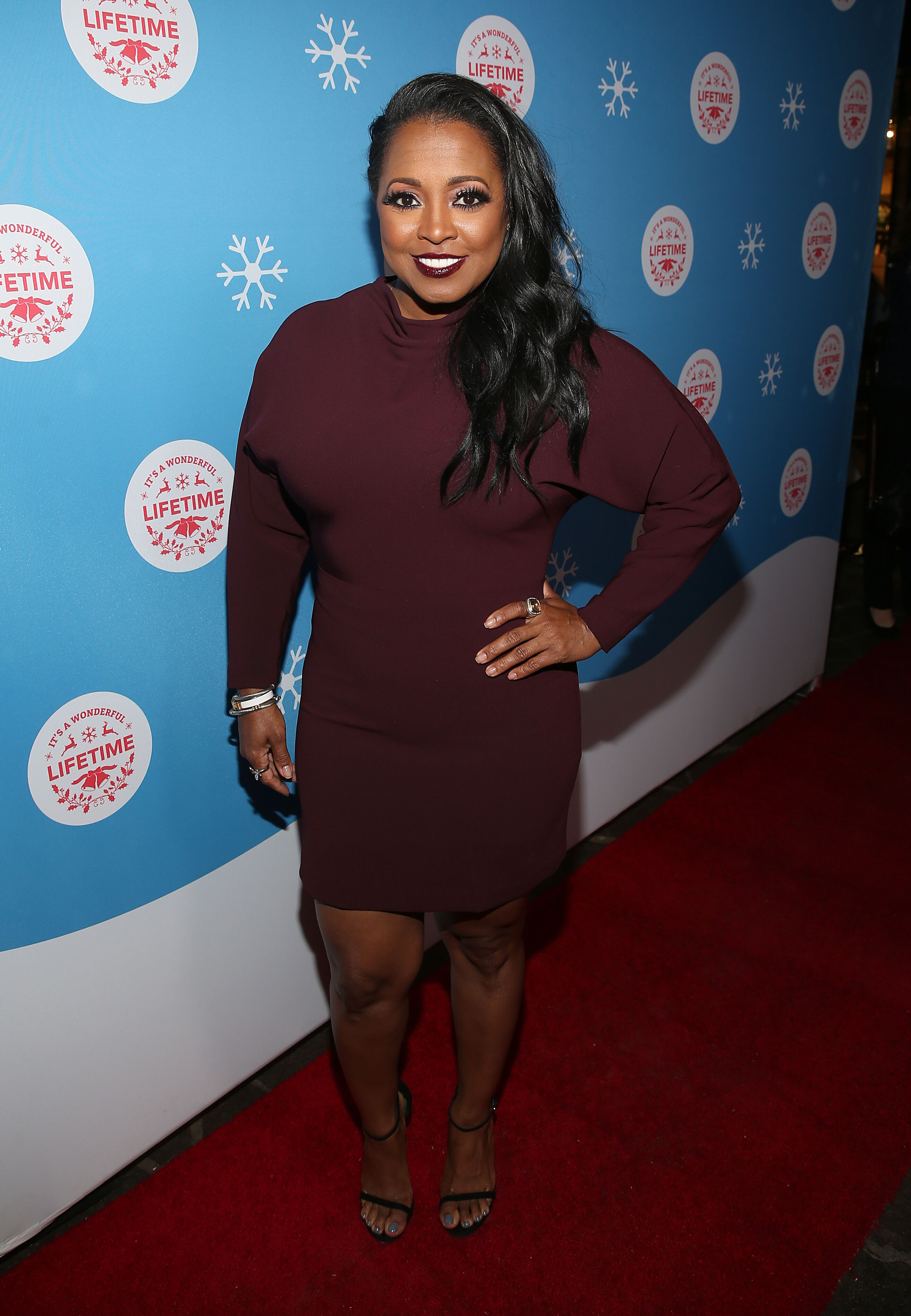"""Keshia Knight Pulliam attends the VIP opening night of the life-sized gingerbread house in celebration of """"It's A Wonderful Lifetime"""" at The Grove on November 14, 2018. 