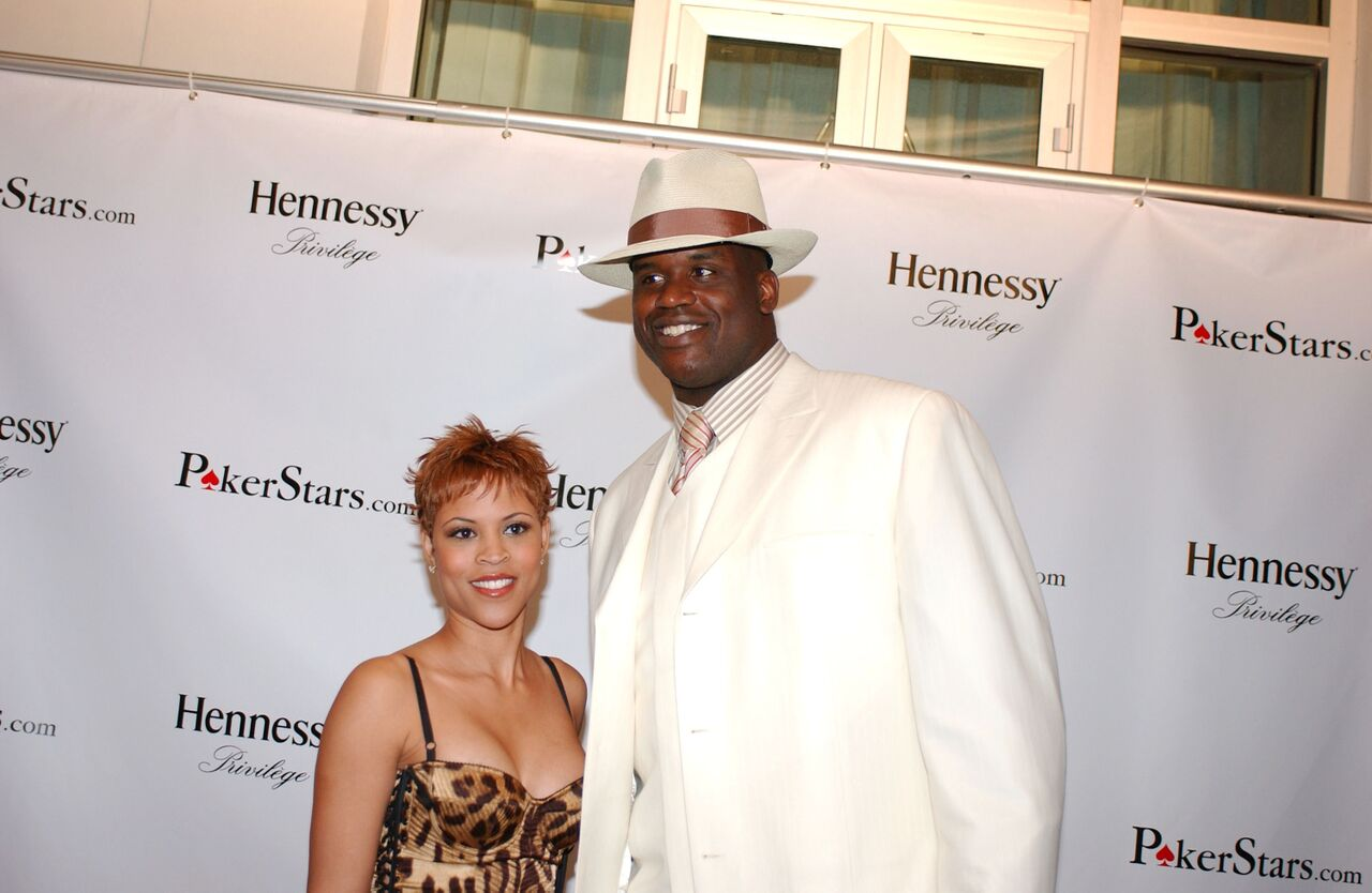 Shaquille O'Neal of the Miami Heat and his wife Shaunie O'Neal arrive at his 33rd birthday party. | Source: Getty Images