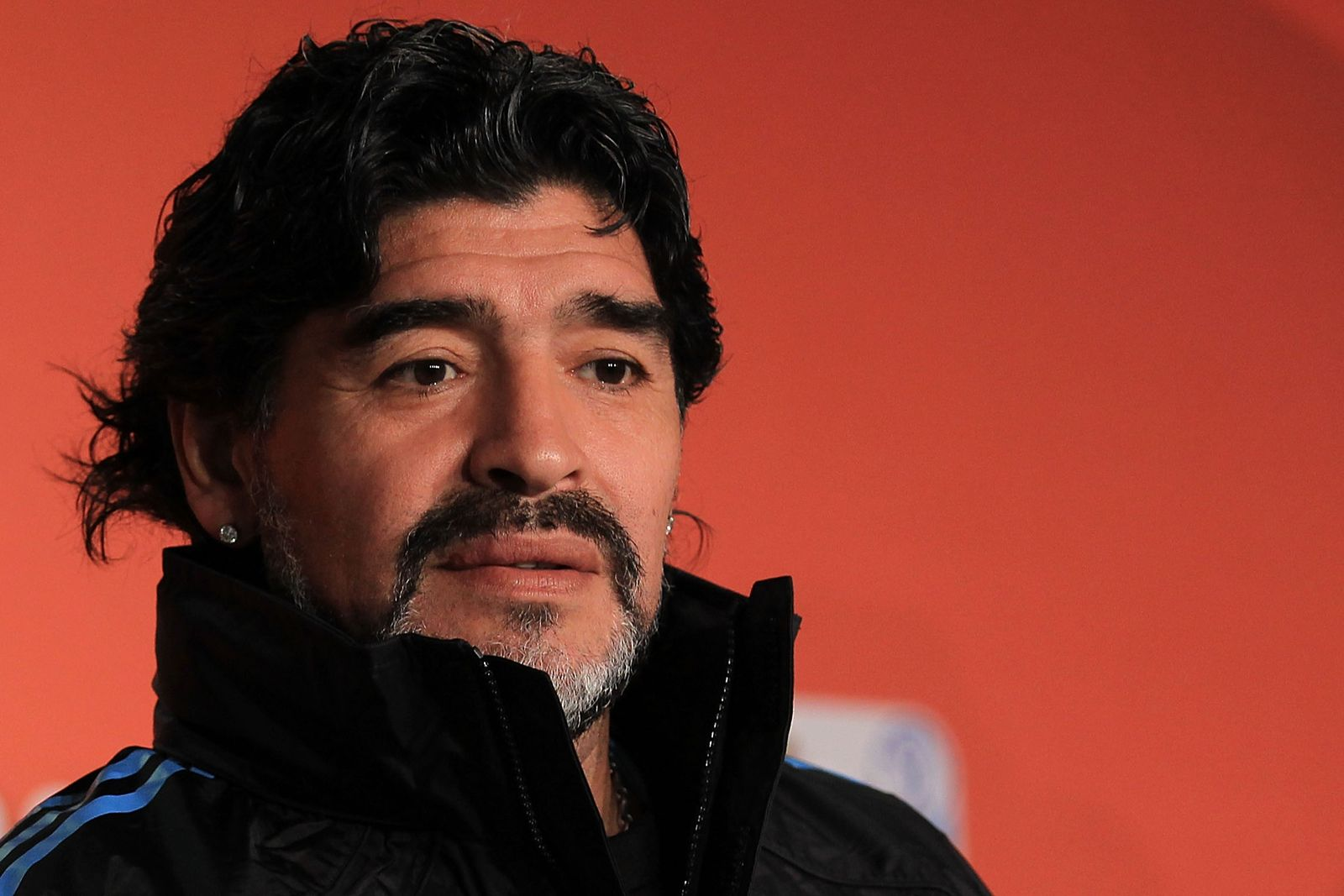Diego Maradona speaks to the media during a press conference at Green Point Arena on July 2, 2010, in Cape Town, South Africa | Photo: Chris McGrath/Getty Images