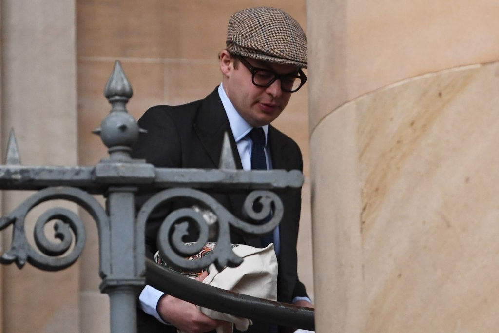 Simon Bowes-Lyon arrives at Dundee Sheriff Court on February 23, 2021 in Dundee, Scotland | Photo: Getty Images