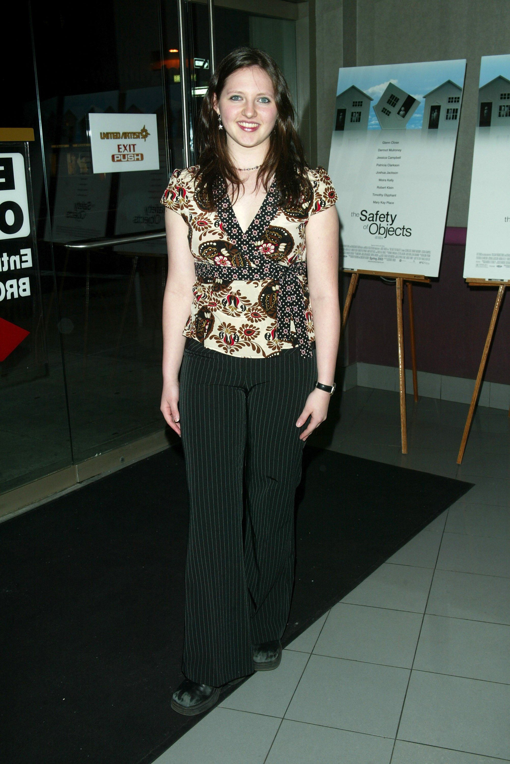 """Jessica Campbell attends the premiere of """"The Safety Of Objects"""" on March 4, 2003, in New York City. 