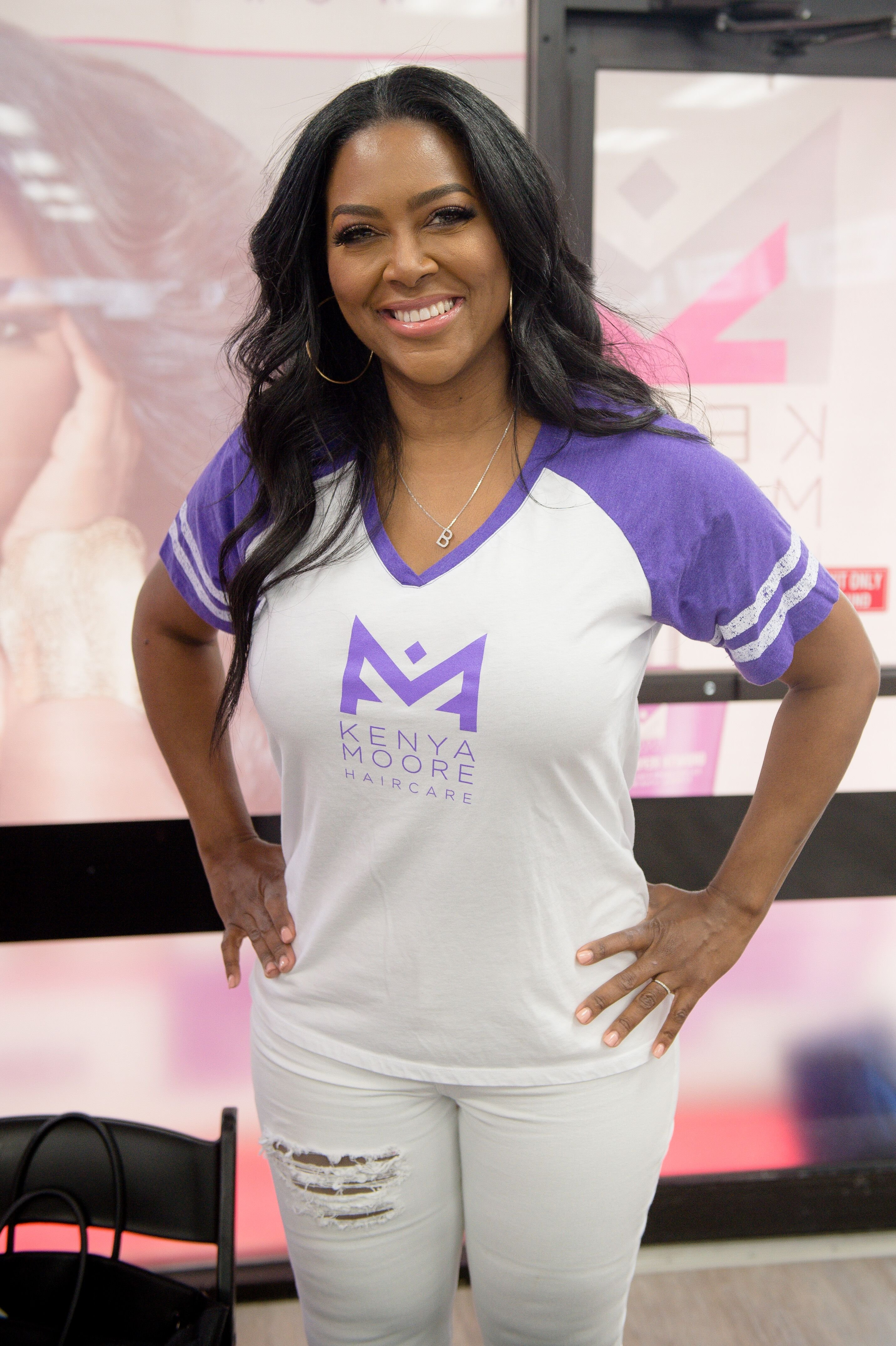 Kenya Moore attends Sally Beauty in store appearance on May 04, 2019 in Atlanta, Georgia. | Source: Getty Images
