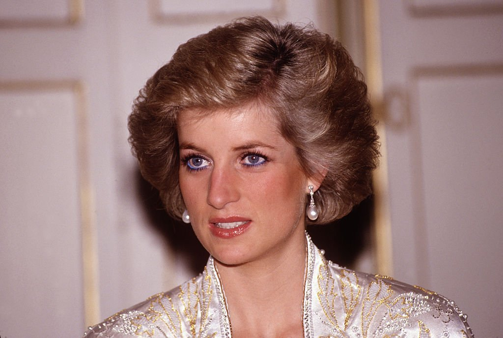 Princess Diana during a dinner evening at Elysee Palace in Paris. | Source: Getty Images