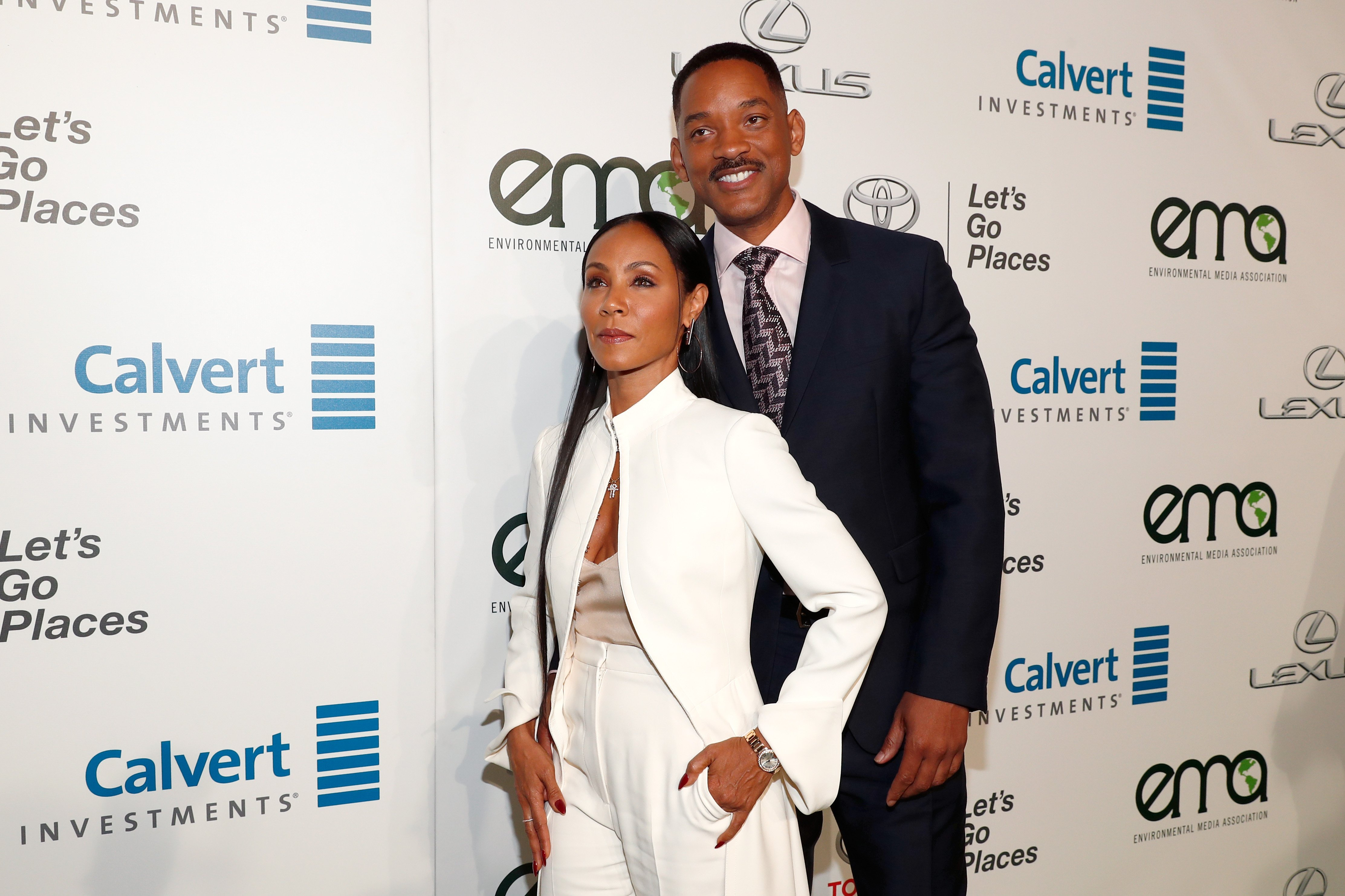 Actors Jada Pinkett Smith (L) and Will Smith attend the Environmental Media Association 26th Annual EMA Awards Presented By Toyota, Lexus And Calvert at Warner Bros. Studios on October 22, 2016| Photo: Getty Images
