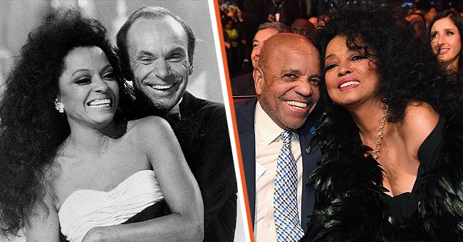 Diana Ross at events with her past partners, Berry Gordy, and Robert Ellis Silberstein | Photo: Getty images