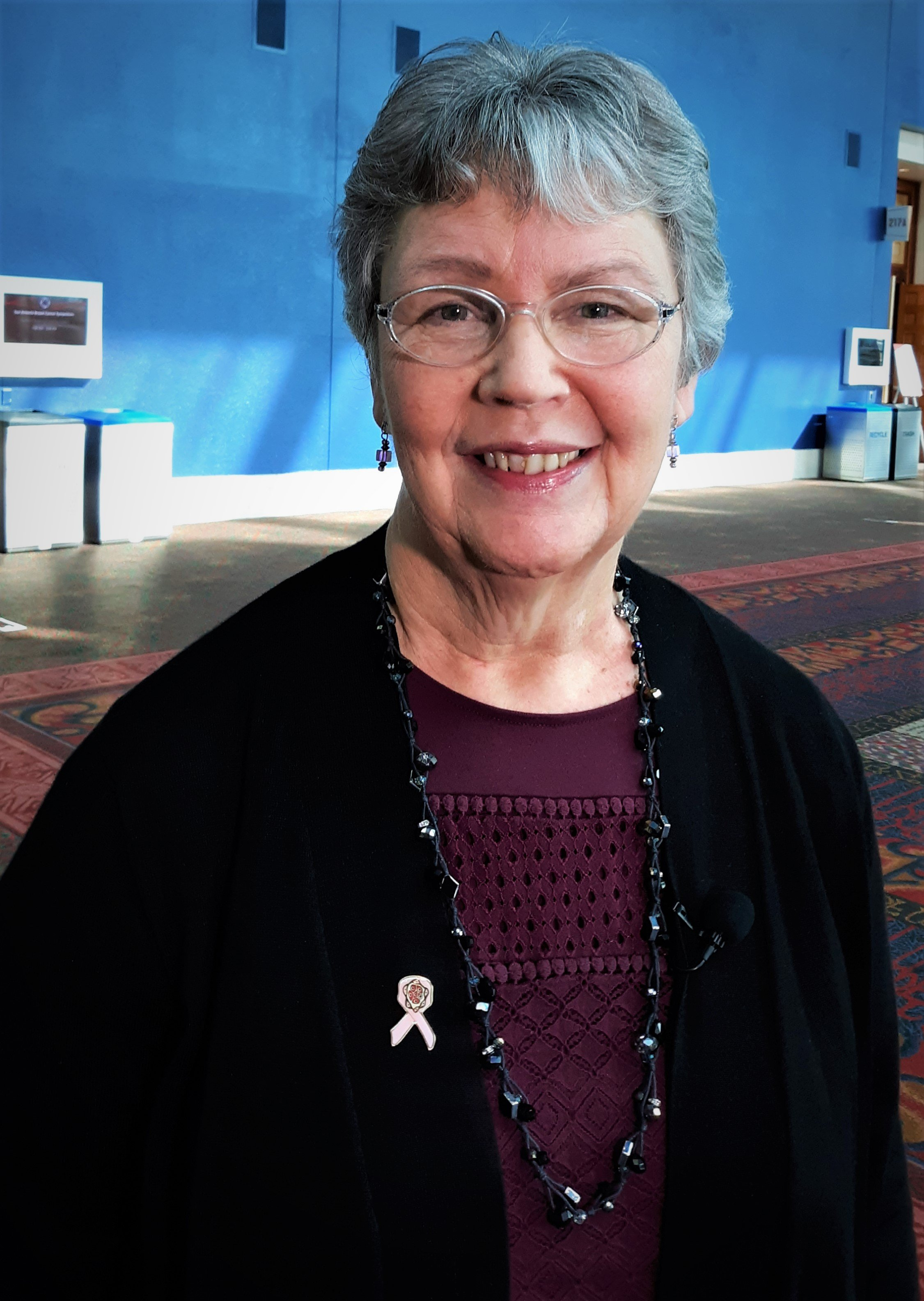 Cancer survivor Ginny Mason, head of the Inflammatory Breast Cancer Research Foundation