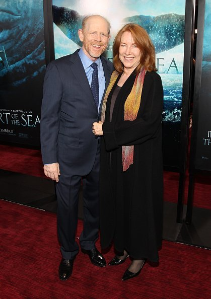 "Director Ron Howard and wife Cheryl Howard at the ""In The Heart Of The Sea"" New York Premiere on December 7, 2015 