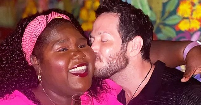 Gabby Sidibe Flaunts Her Slimmer Curves in Pink Top & Bright Skirt on a Date with Her Fiancé Brandon