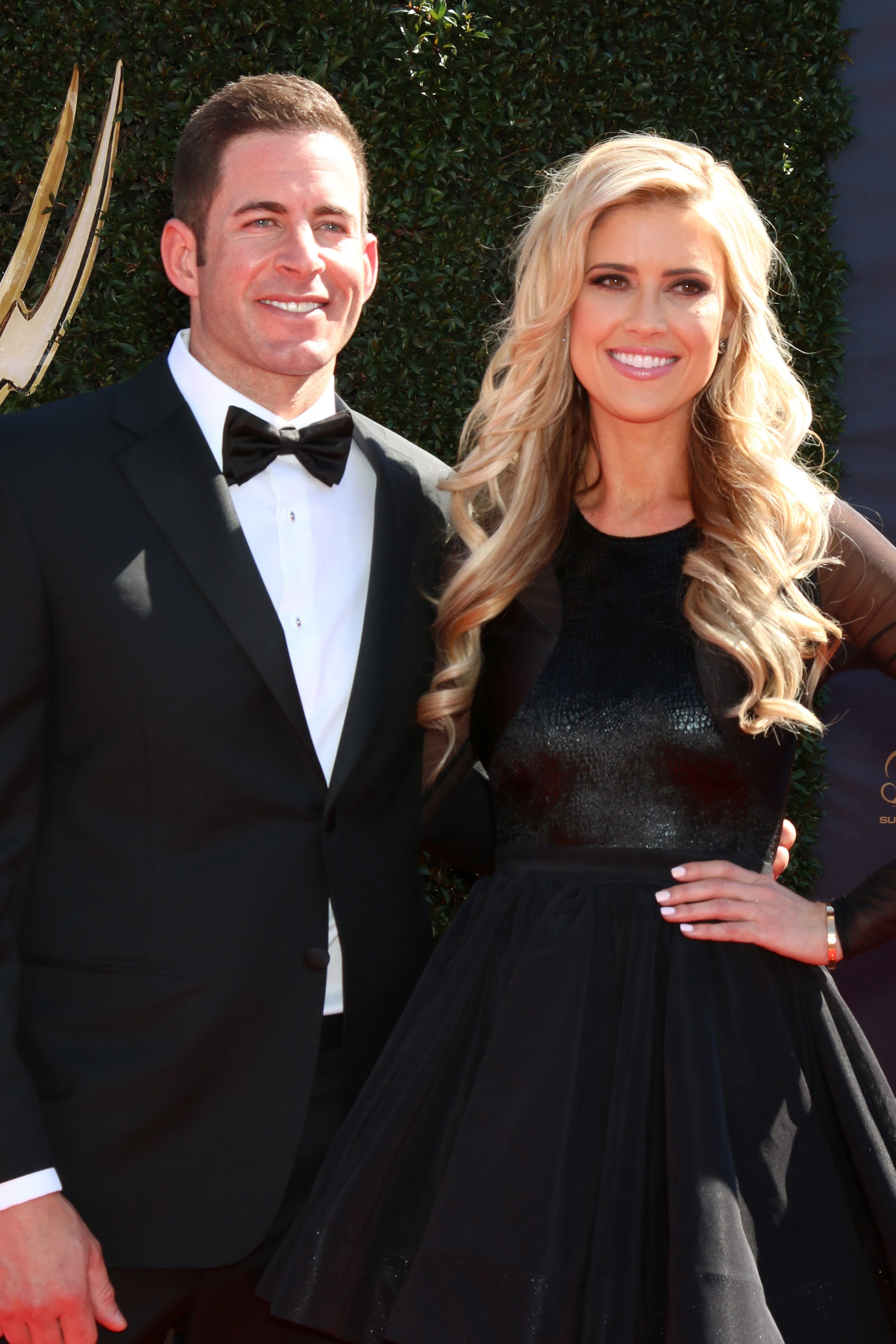 """Tarek El Moussa with his ex-wife and """"Flip and Flop"""" co-host Christina Anstead during the 2017 Daytime Emmy Awards in California. 