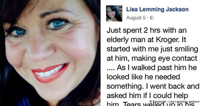 Woman helps elderly man in drug store who had 'an accident in his pants'