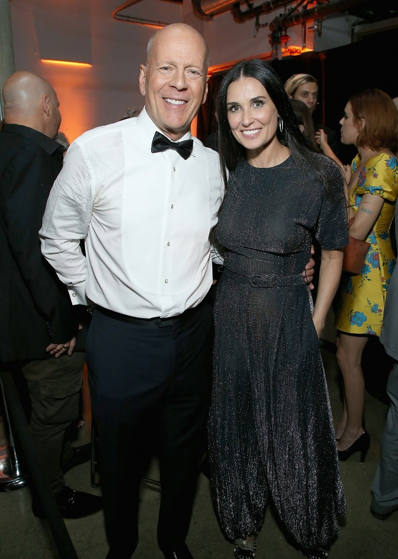 Bruce Willis and Demi Moore on July 14, 2018 in Los Angeles, California | Photo: Getty Images