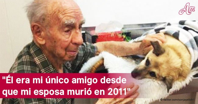 Anciano de 95 años se ve obligado a despedirse destrozado del único compañero que tenía