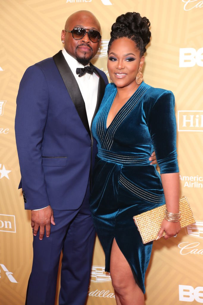 Omar Epps and his wife Keisha Epps at the American Black Film Festival Honors Awards Ceremony in February 2020 | Photo: Getty Images