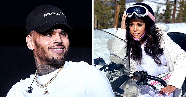 Chris Brown's Mom Looks Stunning on Vacation Riding a Snowmobile in a White Outfit & Helmet