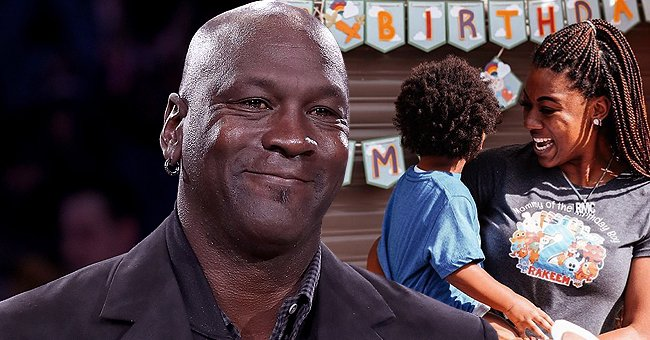 Michael Jordan's Daughter Poses with Her Son in Photos from His 2nd B-Day Party on Mother's Day