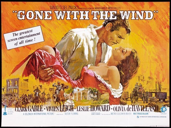 """""""Gone with the Wind"""" a 1939 American epic historic romance film 